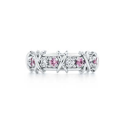 2e1fa7ca3 Schlumberger® Sixteen Stone ring with diamonds and pink sapphires. | Tiffany  & Co.