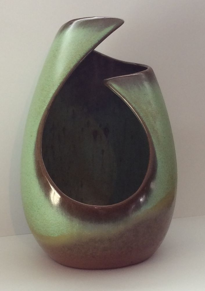 Frankoma Pottery Prairie Green Freeform Candle Holder Or Vase 7 Tall 21 Keramik Ideen