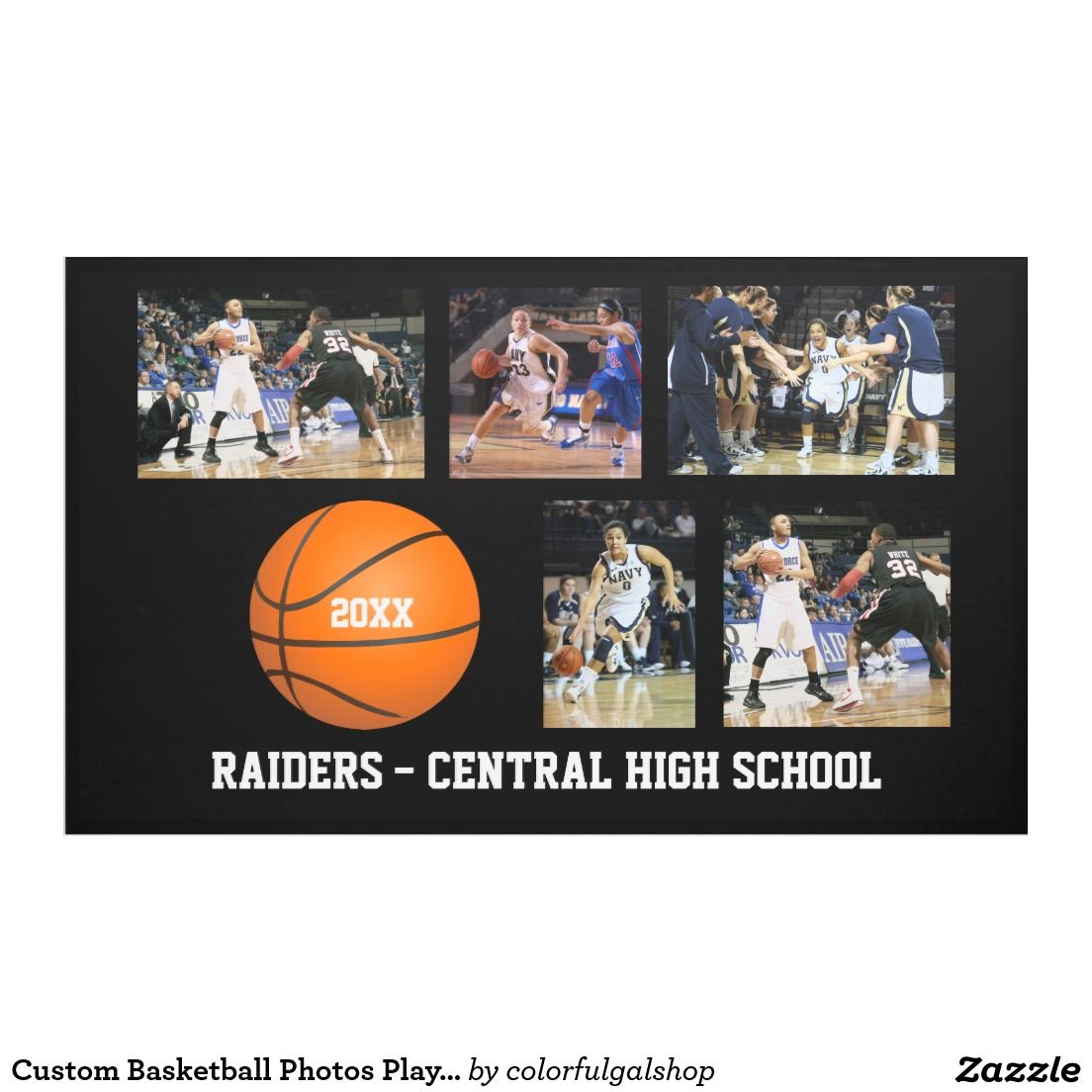 Custom Basketball Photos Player Team Name Year Banner ...