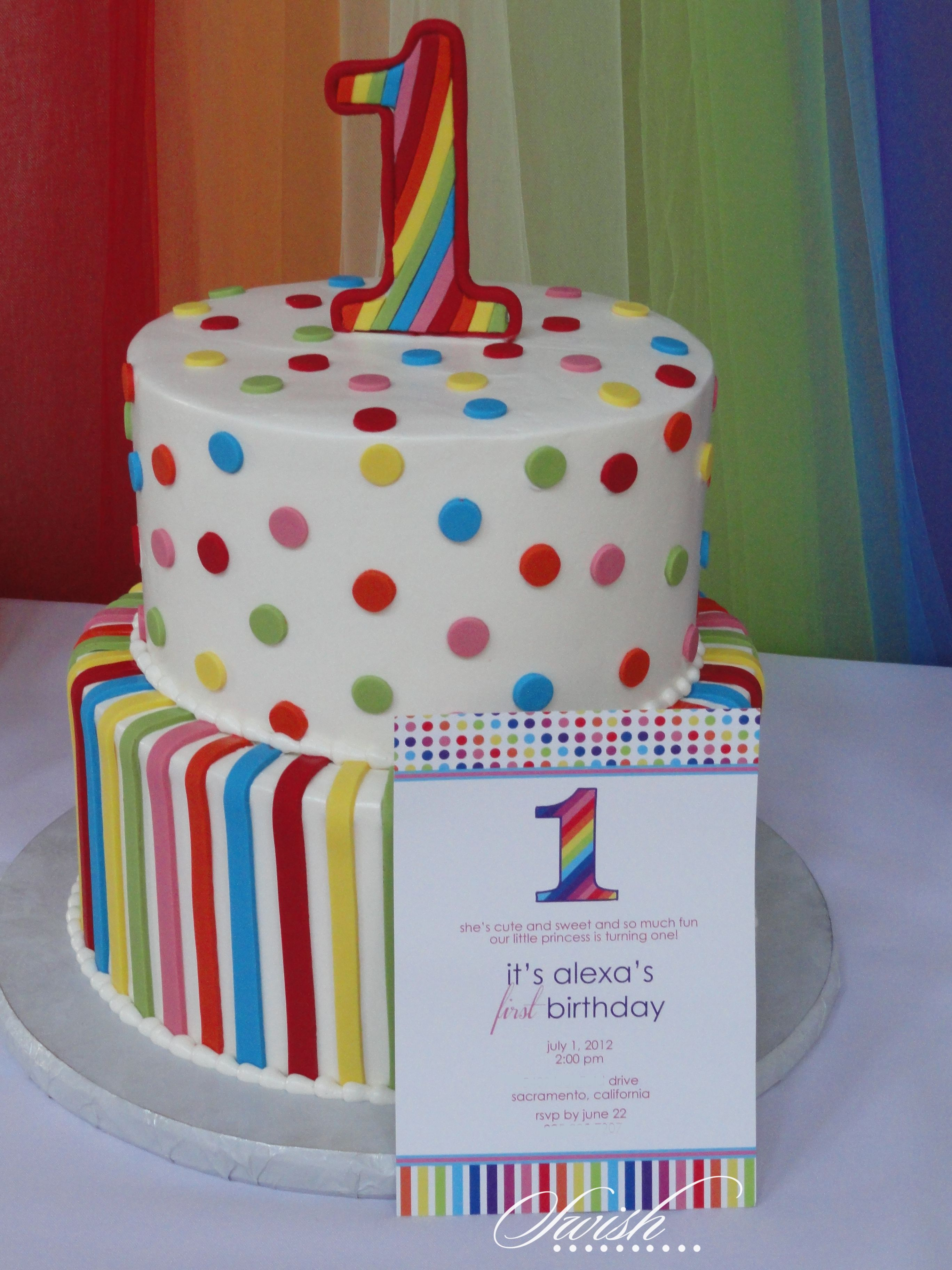 Rainbow First Birthday 1st Boy Cakes Circus