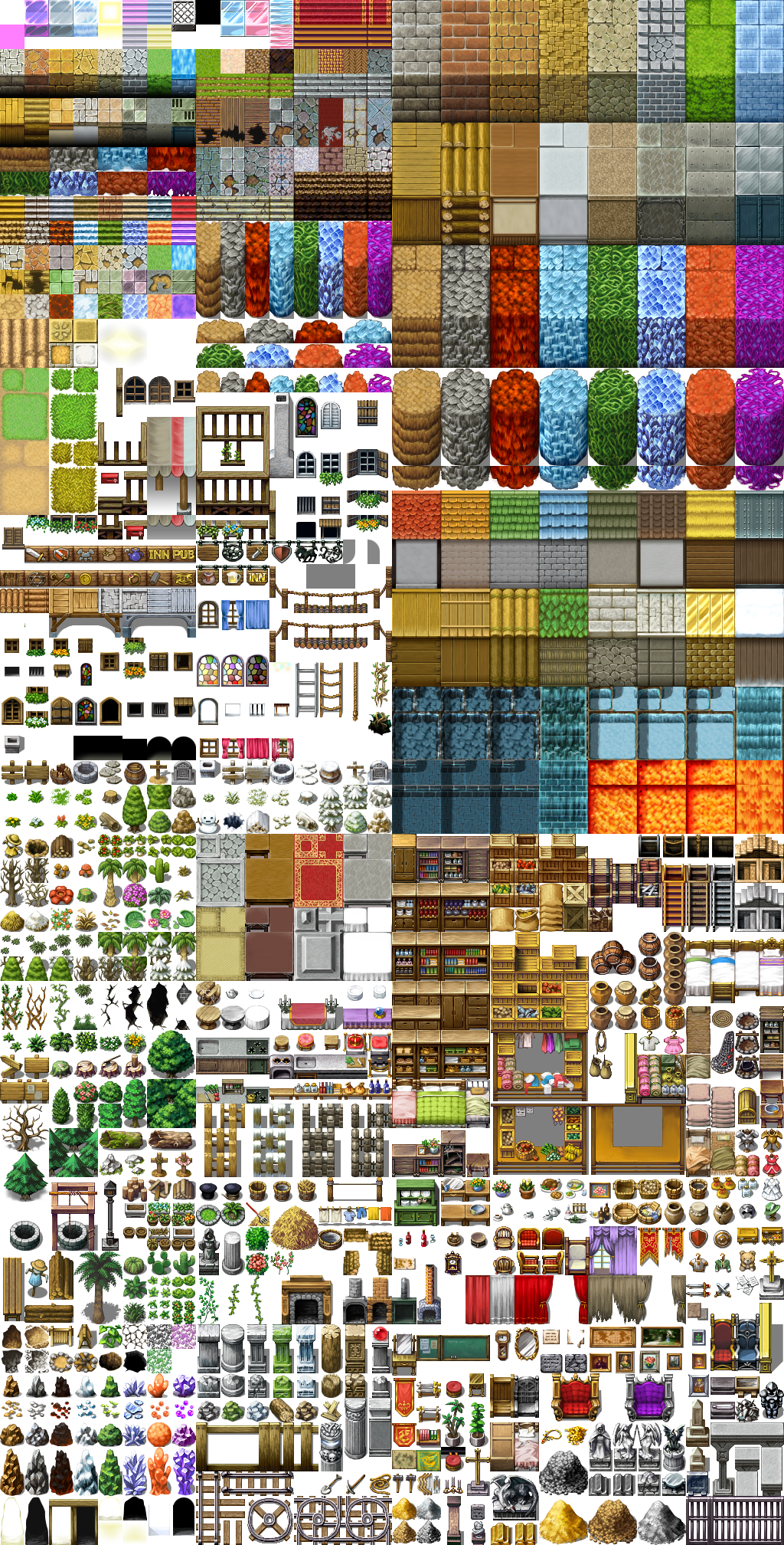 RPG Maker VX RTP Tileset by telles0808 | Pixel Games | Rpg