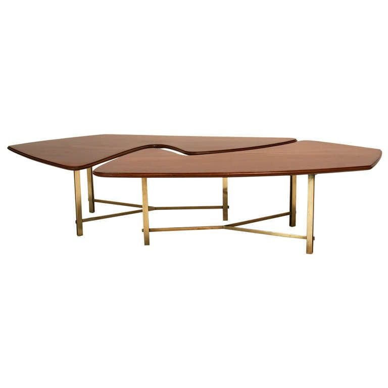 Italian Mahogany And Bronze Coffee Table Coffee Tables And Modern