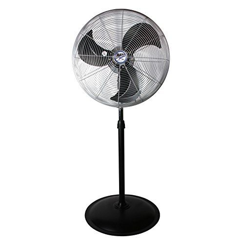 Maxxair Big Air Pro Grade High Velocity 22 Industrial Fan Heavy Duty 3 Speed Oscillating Pedestal Fan Black Industrial Fan Pedestal Fan Oscillating Fans