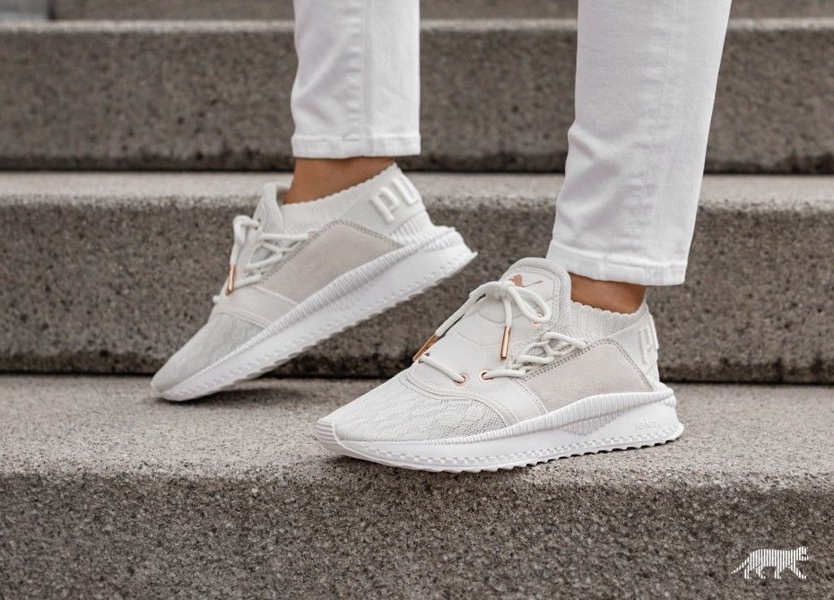 905a21dd52 PUMA Women's TSUGI SHINSEI White Marshmallow Rose Gold Sneaker Shoe ...