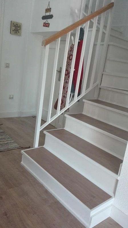 Cubrir una escalera con un suelo vin lico adhesivo hazlo - Adhesivo piso vinilico ...