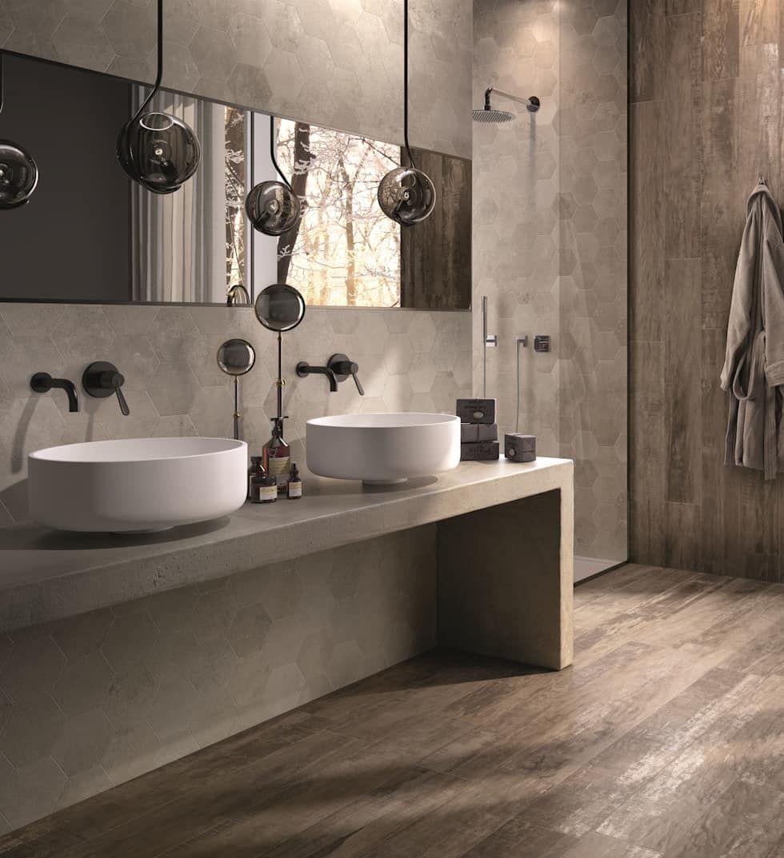 Holzoptikfliesen Im Badezimmer Moderne Badezimmer Von Fliesen Sale