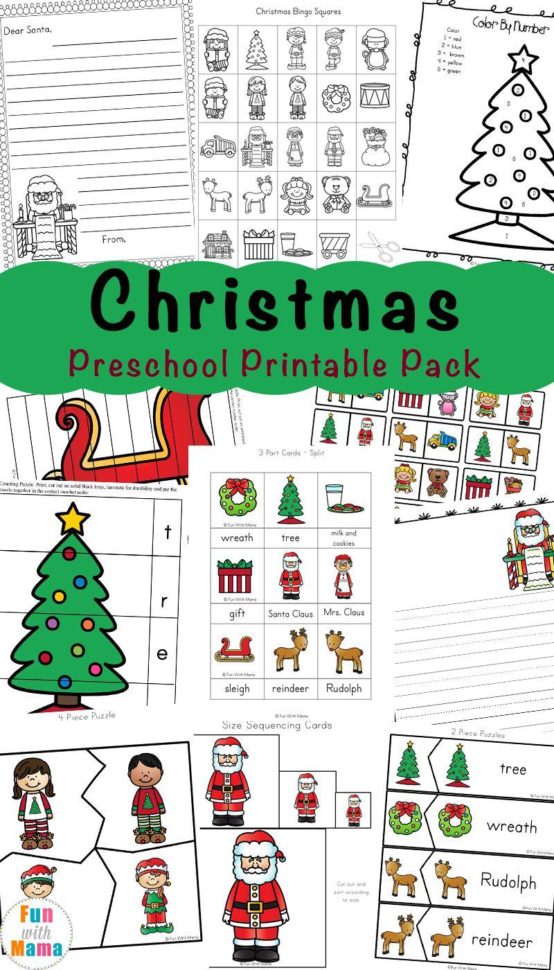 Free Printable Christmas Worksheets | Worksheets, Free preschool and ...