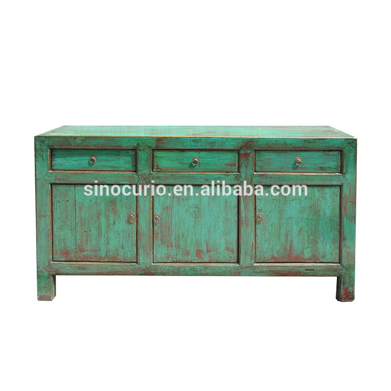 Chinese Antique Reproduction High Gloss Lacquer Sideboard Buffet Table Furniture