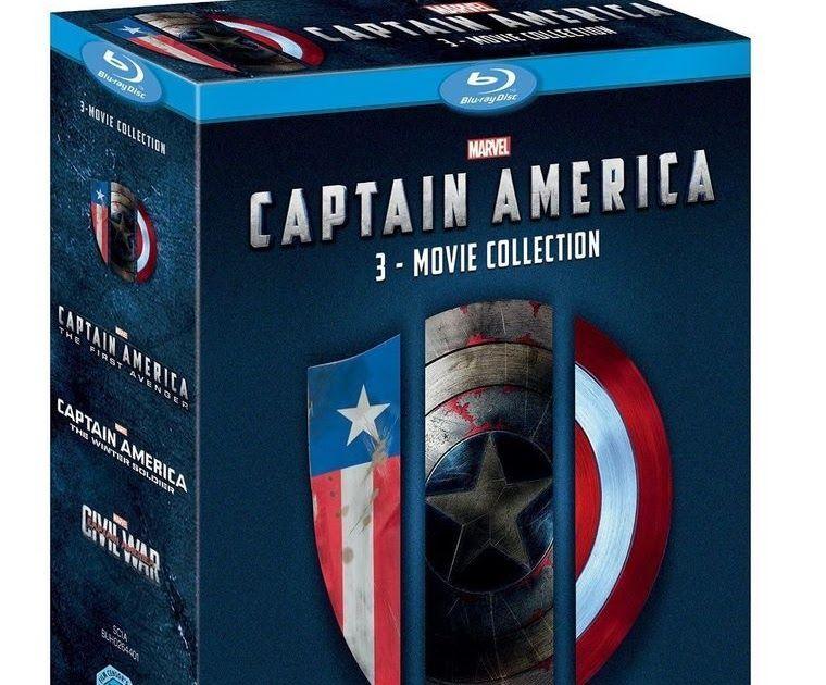 CAPTAIN AMERICA 1-3 Movie Collection [Blu-ray Box Set