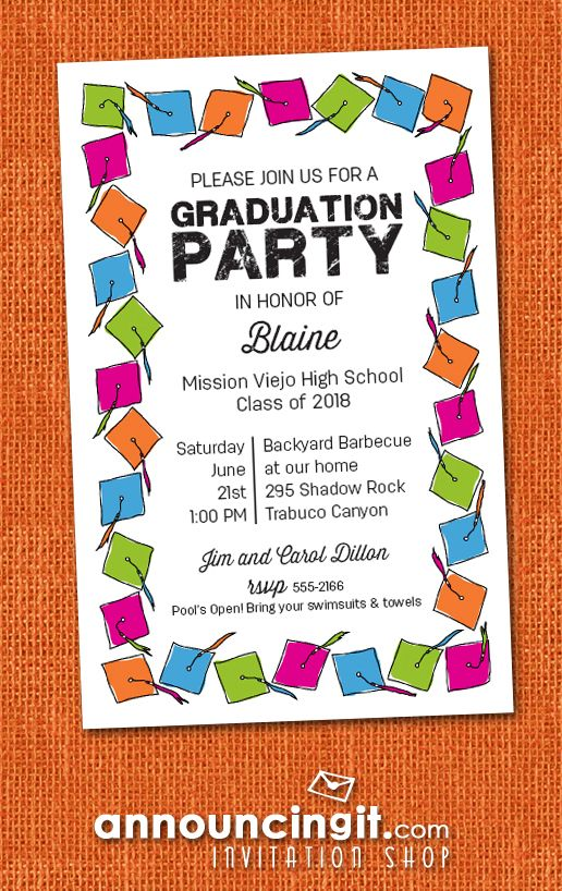 Graduation hats party invitations and announcements graduation graduation hats party invitations and announcements graduation invitations and announcements pinterest grad hat college graduation and party filmwisefo