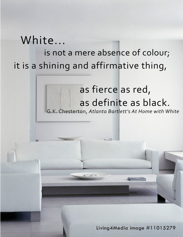 White Decor Interior Design Quotes