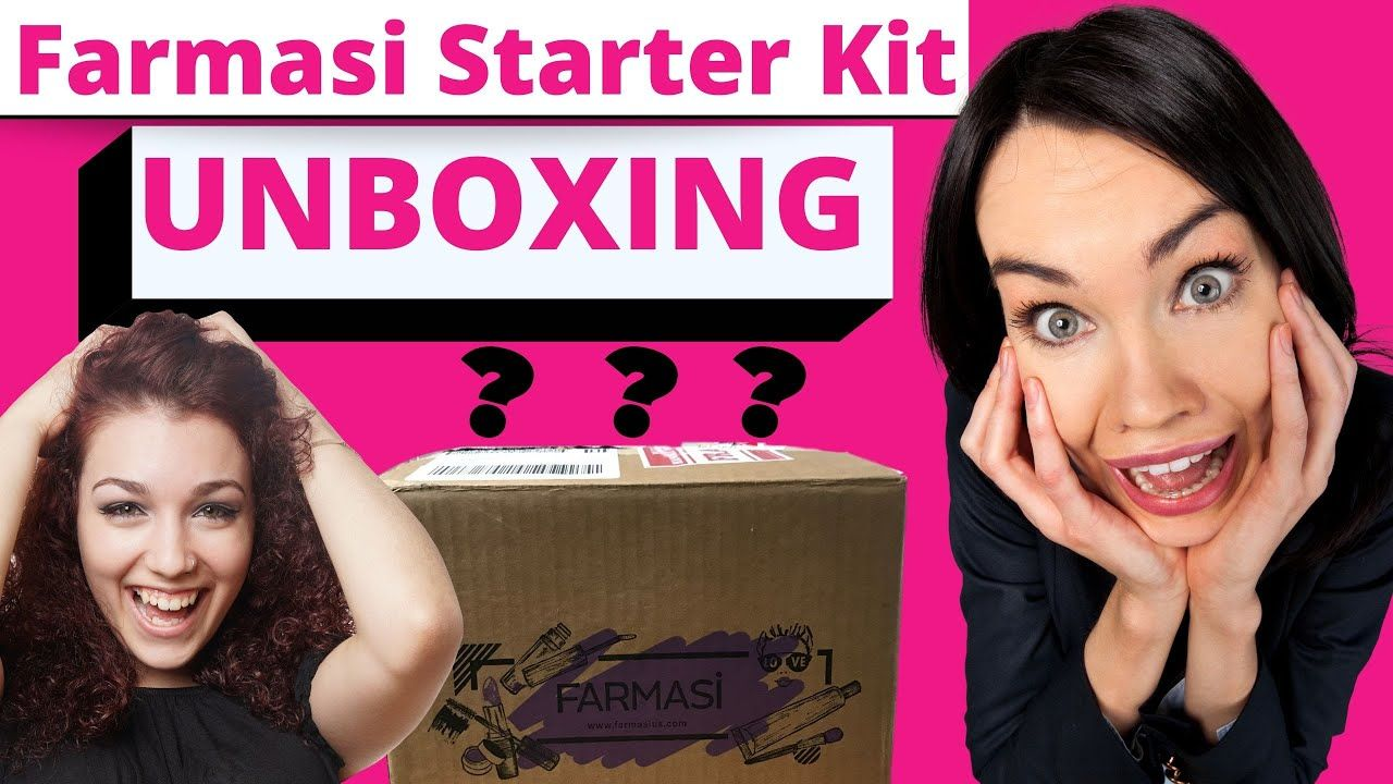 Farmasi starter kit unboxing excited about unboxing our