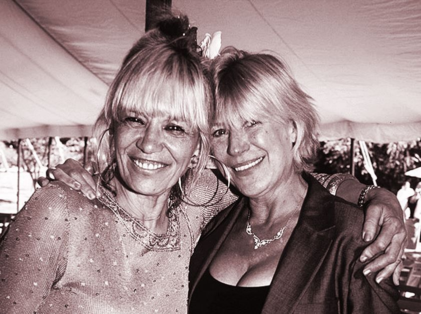 Anita Pallenberg Keith Richards Daughters Wedding.Marianne Faithfull And Anita Pallenberg At Angela Richards Wedding