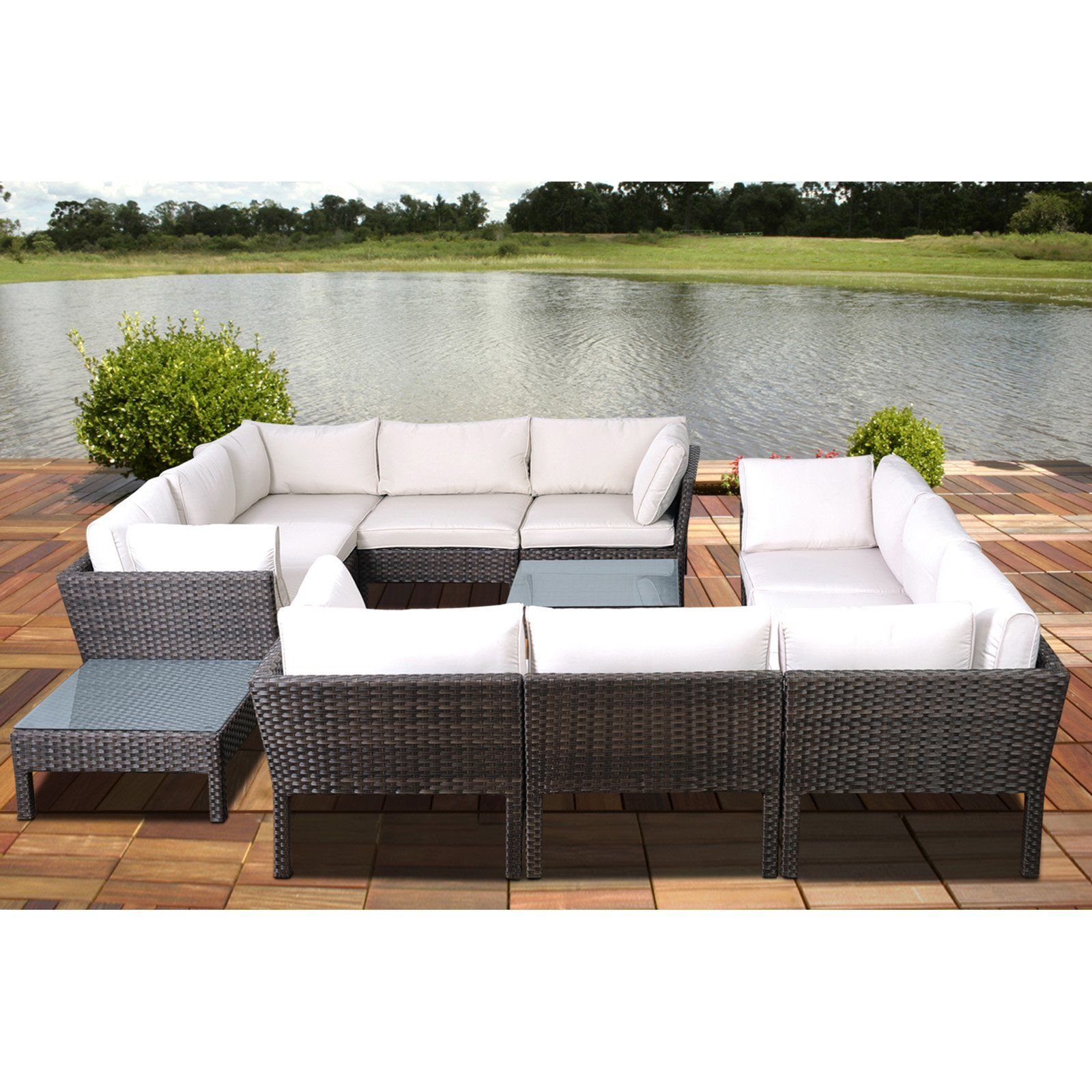 Atlantic St James Collection Sectional Conversation Set
