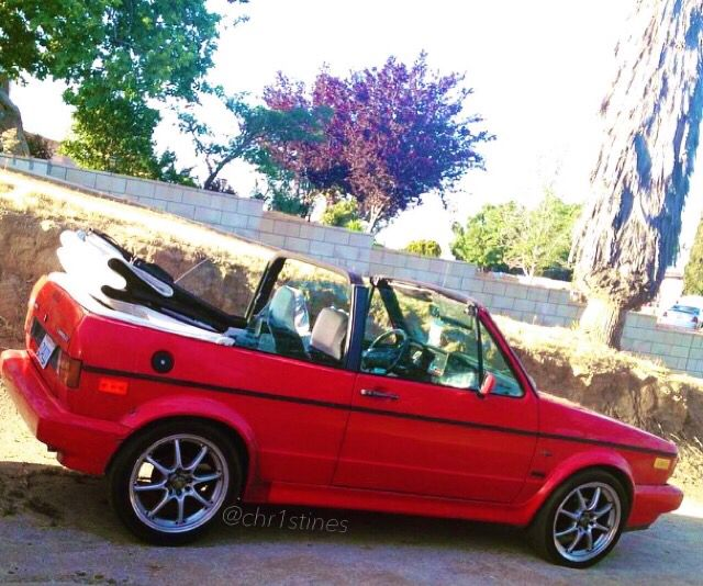 My Red and White 93 VW Cabriolet Wolfsburg Edition ❤ @christines
