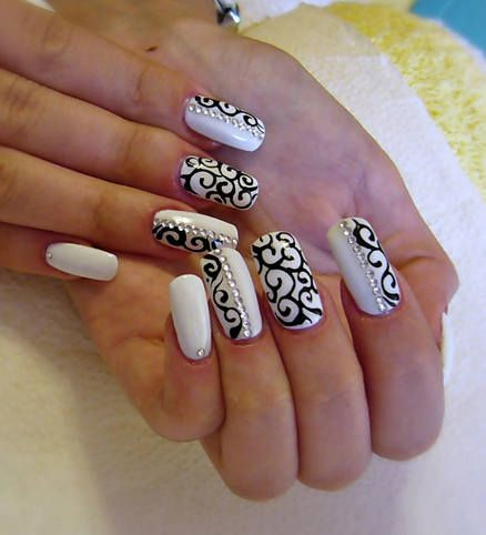 Beige black nails hledat googlem nehty pinterest black solid white nails with black tribal prinsesfo Gallery