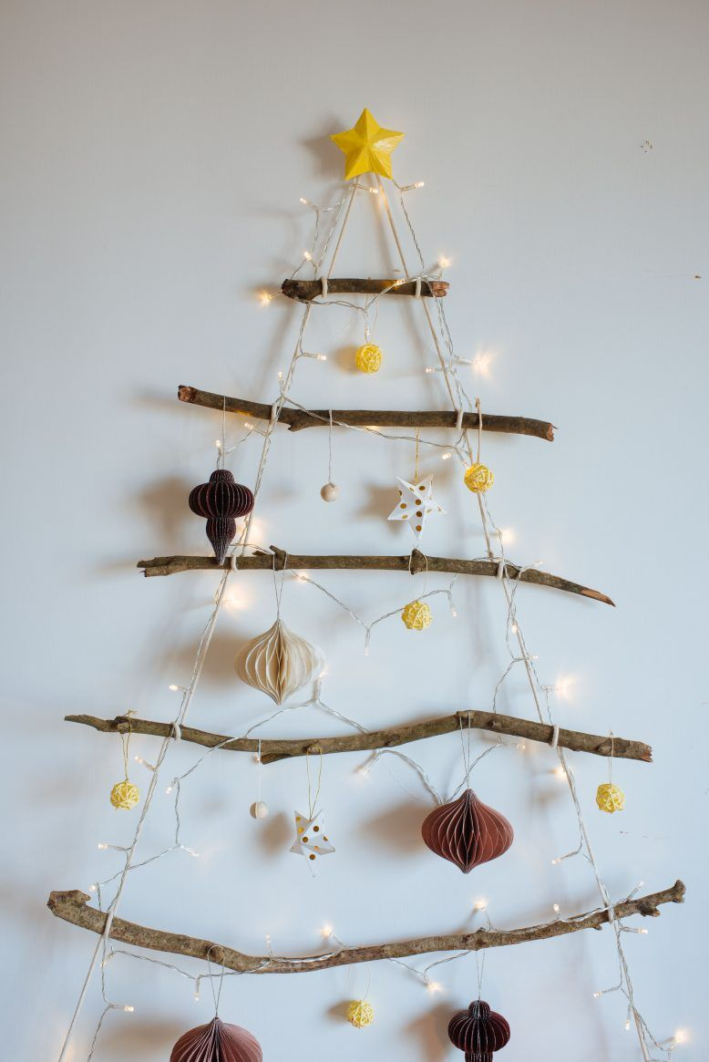 Diy Hanging Branch Christmas Tree Collective Gen Tree Branch Decor Alternative Christmas Tree Diy Hanging