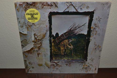 LED ZEPPELIN IV Album LP w/Shrink Wrap STICKER Stairway To Heaven Inner Sleeve
