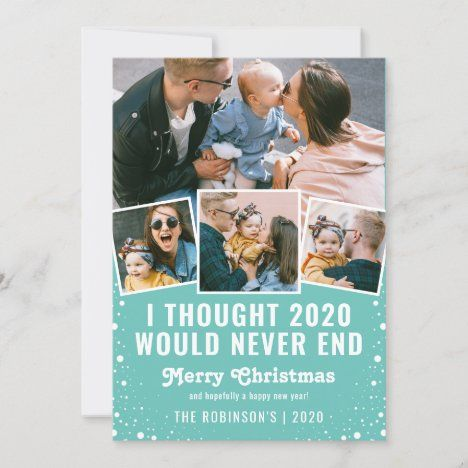 Funny 2020 Photo Collage Christmas Holiday Card