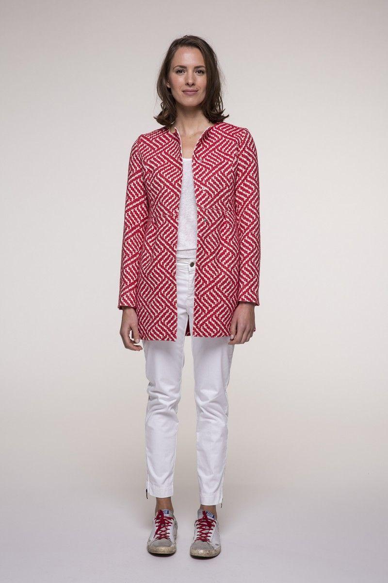 Mode Rouge D'été Coat Pinterest And Trench Jacquard Manteau En Femme w8nASSqf