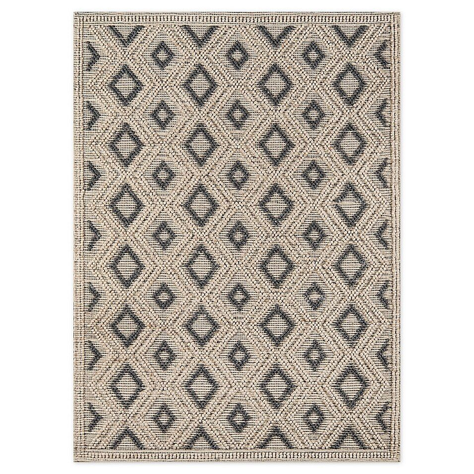 Momeni Geometric 2 X 3 Woven Accent Rug In Beige In 2020 Woven