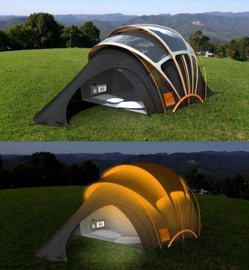 Solar powered tent   Just cool   Pinterest   Solar powered ...