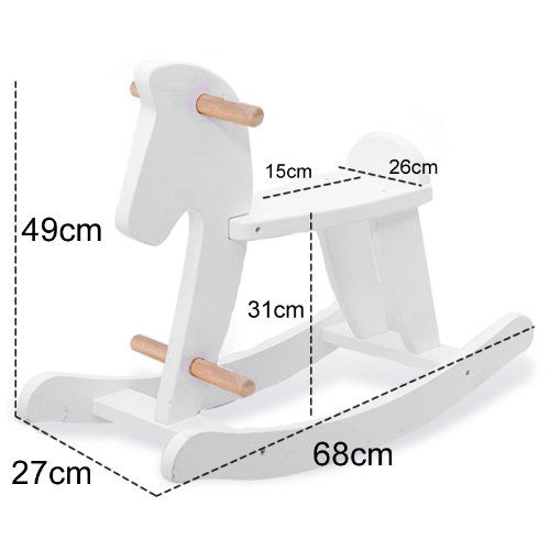 Labebe-Caballo Balancín De Madera Para Niño-Color Blanco: Amazon.es ...