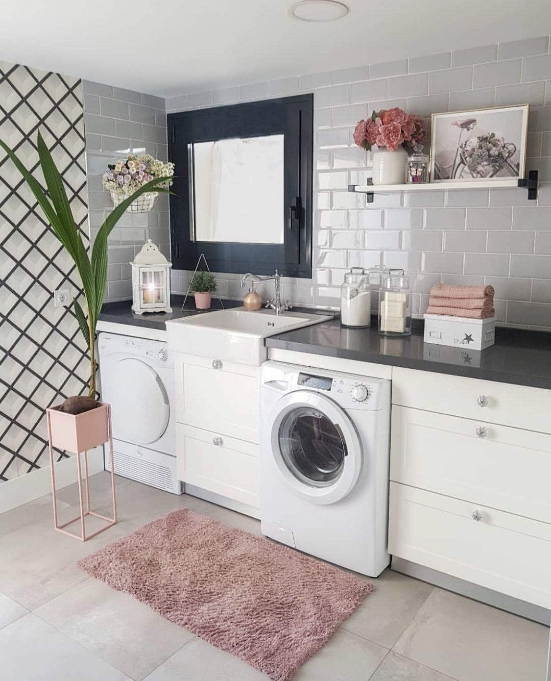 Pinterest Scottythoughts Laundry Room Inspiration Interior Wall Design Pink Laundry Rooms