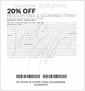image relating to Lord and Taylor Printable Coupon referred to as Lord Taylor Discount coupons cost-free printable coupon codes november 2016