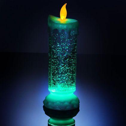 the cheapest latest cheap for discount Bougie lumineuse pailletée à LEDs. La flamme de #Noël ne s ...
