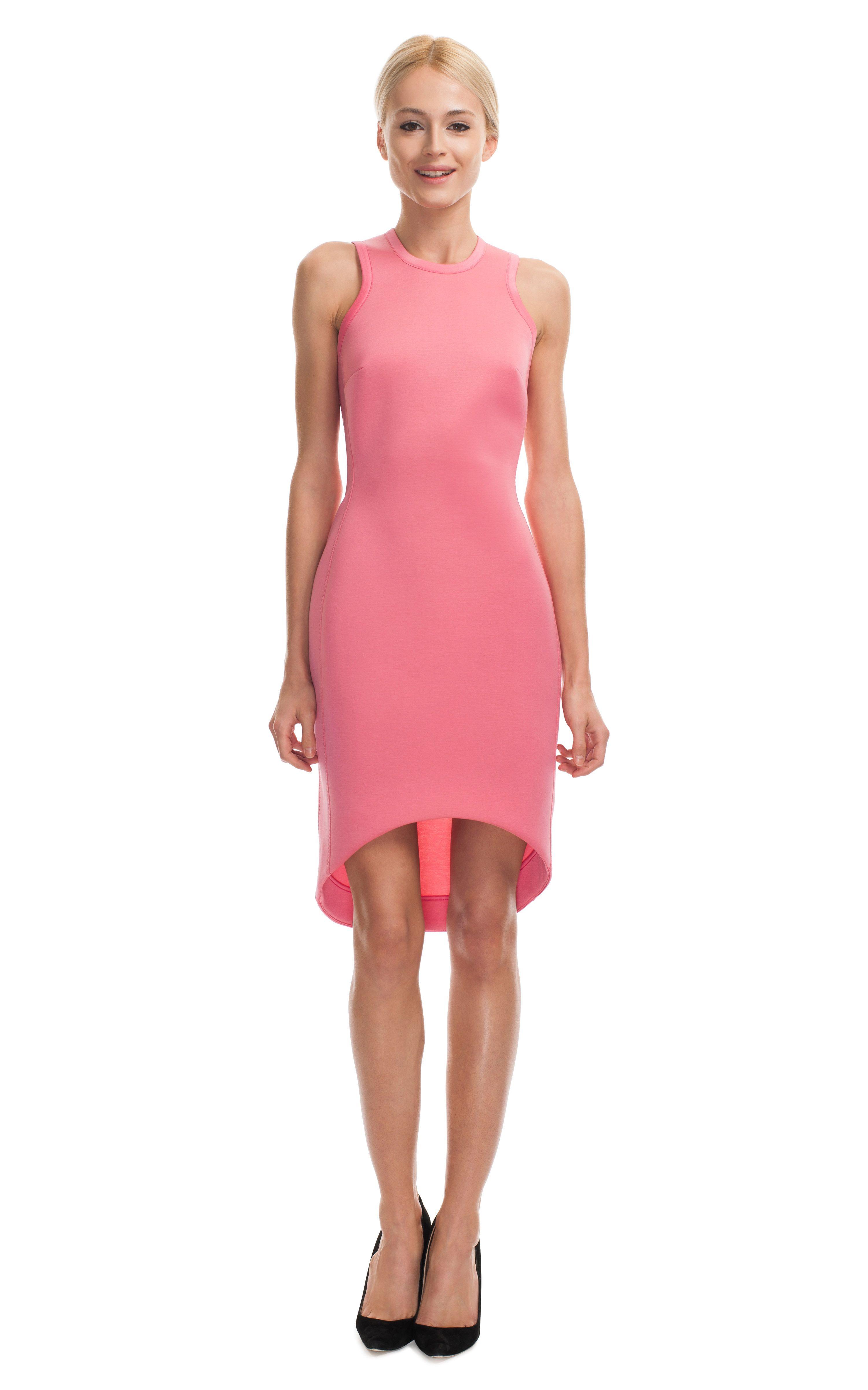 Josh Goot Bubble Gum Future Basics II Cut Away Dress at Moda ...