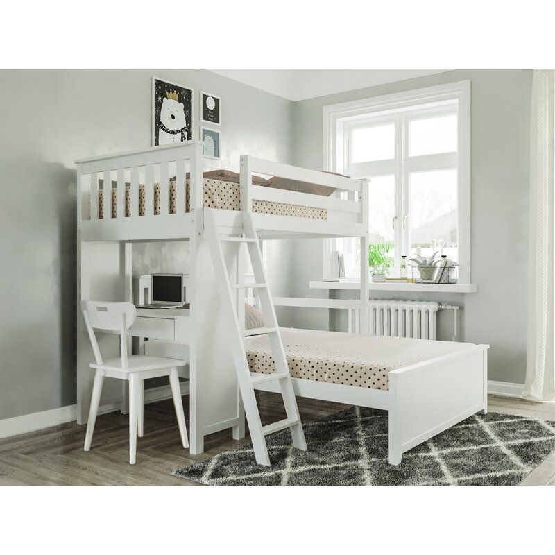 Geyer Twin Over Full L Bunk Bed In 2021 Bunk Beds Bed For Girls Room Diy Bunk Bed