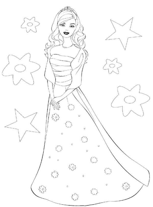 Barbie doll coloring pages to print kids coloring pages for Barbie doll coloring pages