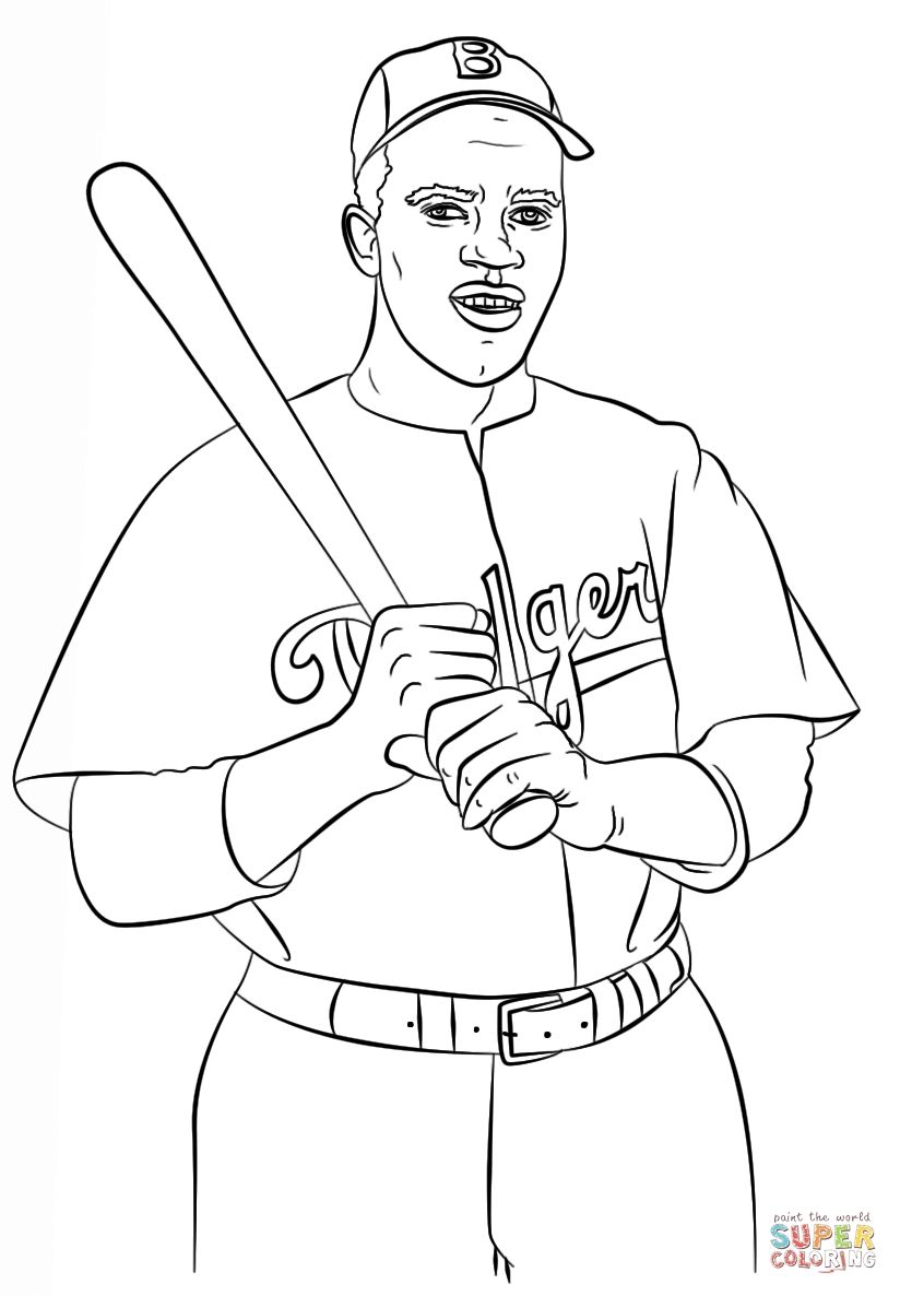 Jackie Robinson Coloring Pages Download