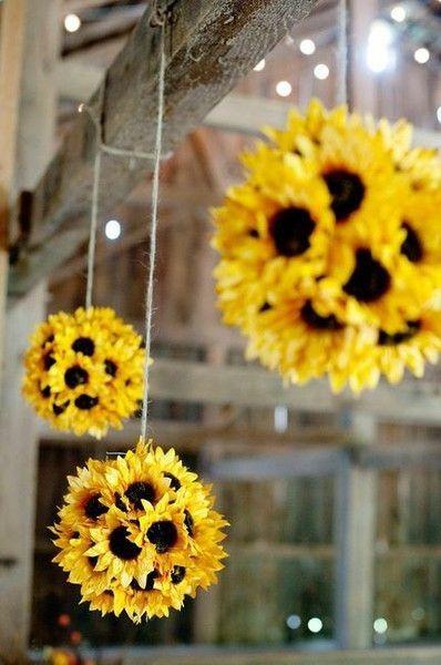 Simple home decor idea - styrofoam ball, hot glue, and any flower you choose!                                                                                                                                                                                 More