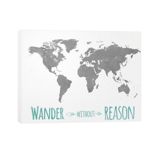 Wander without reason map canvas room pinterest wander wander without reason map canvas world map stencilworld gumiabroncs Gallery