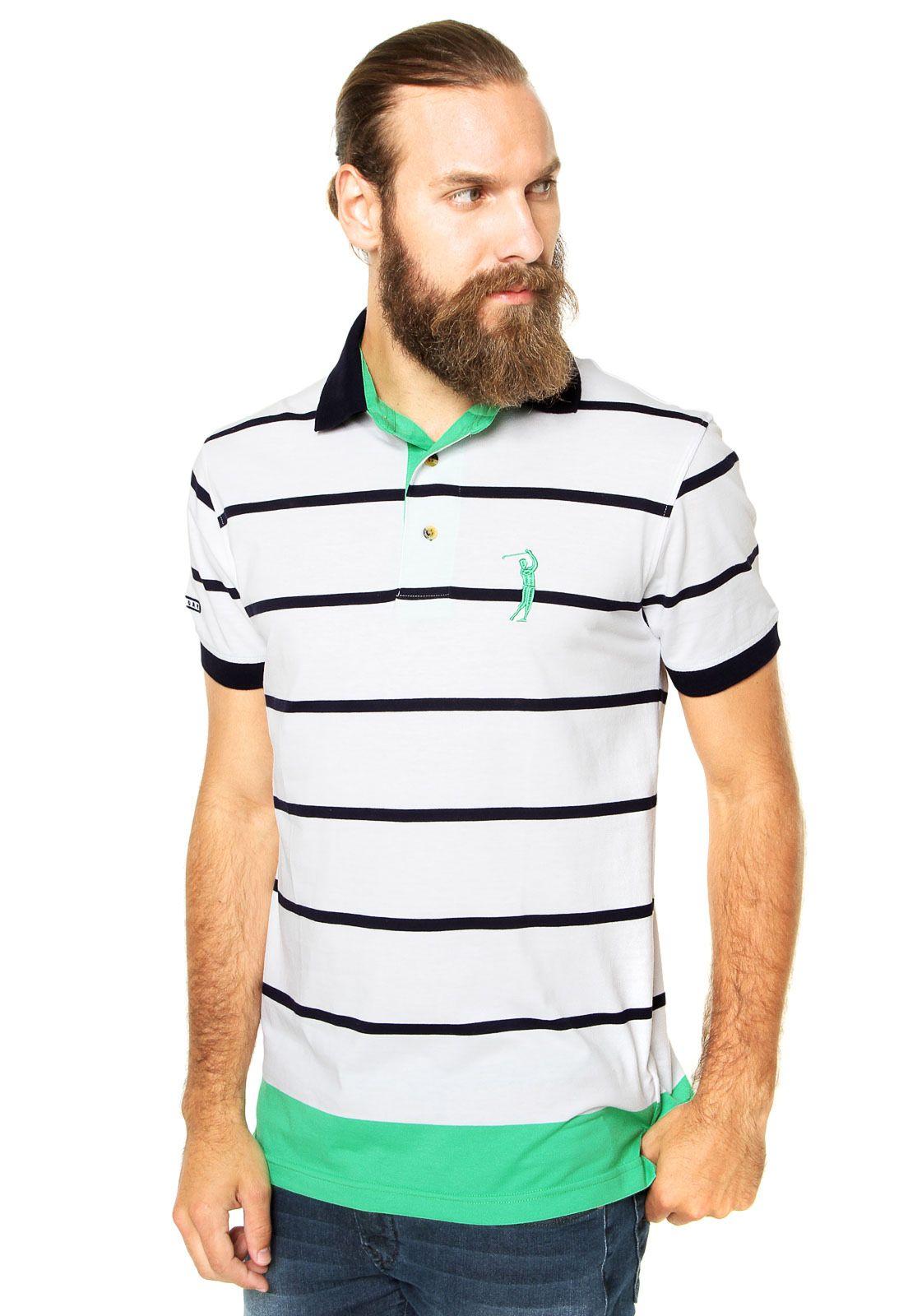 Camisa Polo Aleatory Listras Multicolorida - Marca Aleatory 0272b5f4c82e9