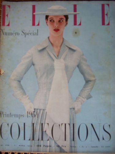 1954 Vintag Elle Spring Special French Fashion Women's Magazine Ad Chanel | eBay