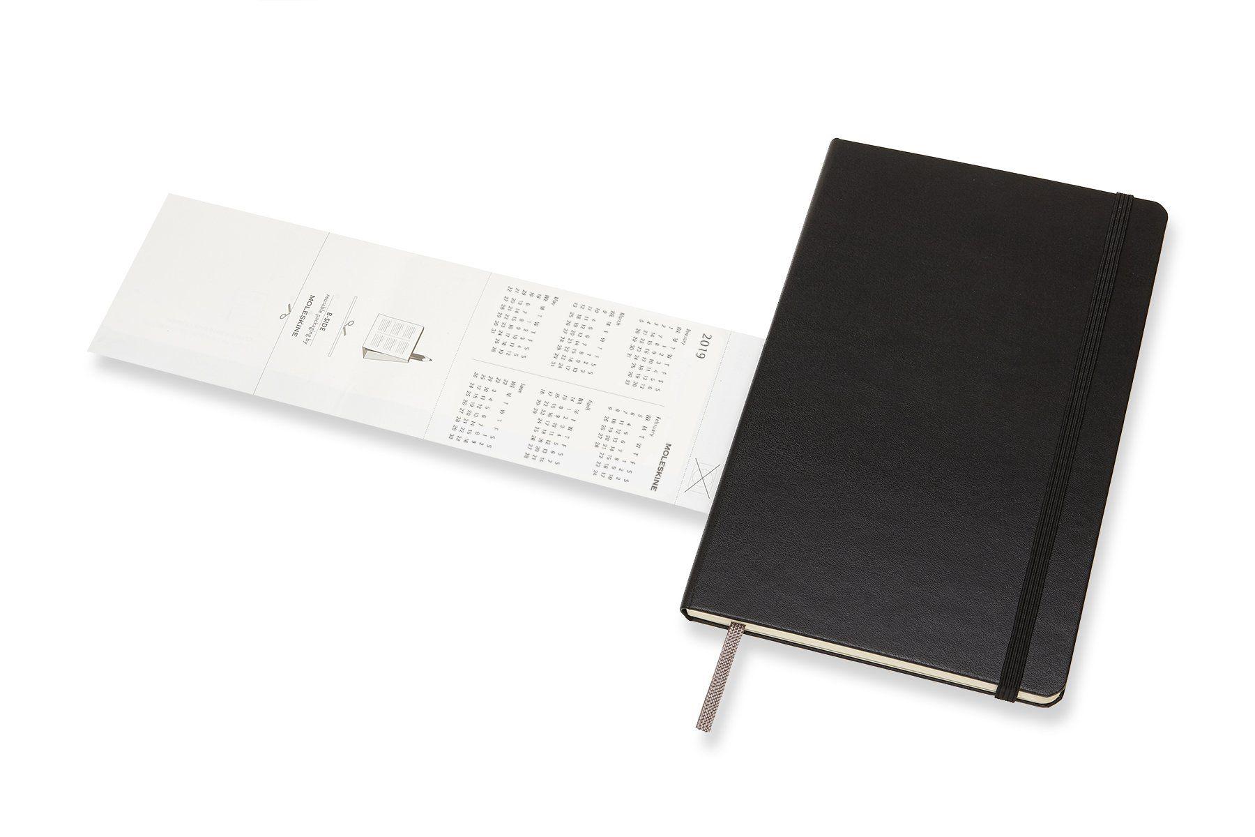 Vertikal 12 Monate Taschenkalender A5 Moleskine Wochenkalender Hard Cover Large Schwarz 2020