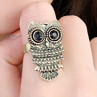 59 Seconds  Rhinestone Owl Ring from YesStyle $9.6