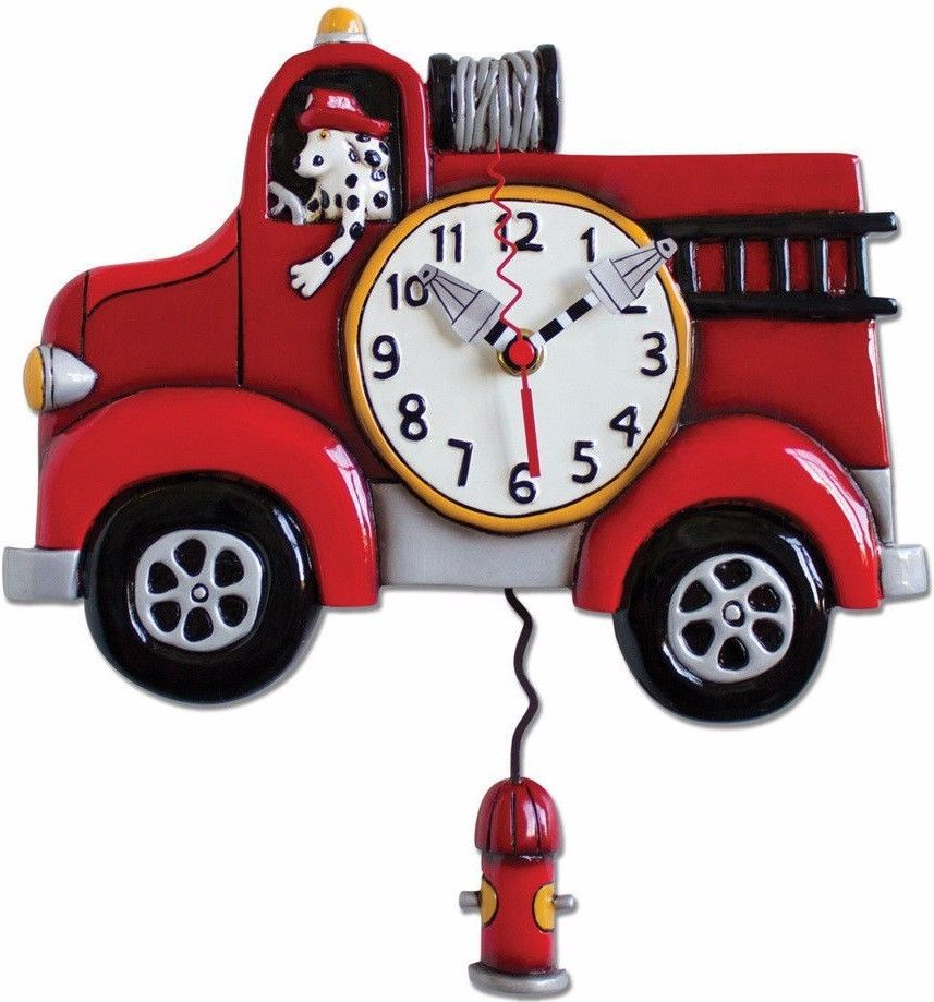 Michelle Allen Designs Clock FIRE ENGINE  CLOSE OUT SALE  ships in 24 hrs   #MICHELLEALLENDESIGNS #Contemporary