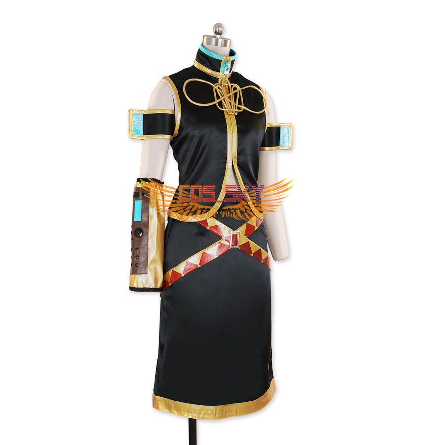 Halloween Women/'s VOCALOID 2 Megurine Luka Dress Cosplay Costumes Adult Costume