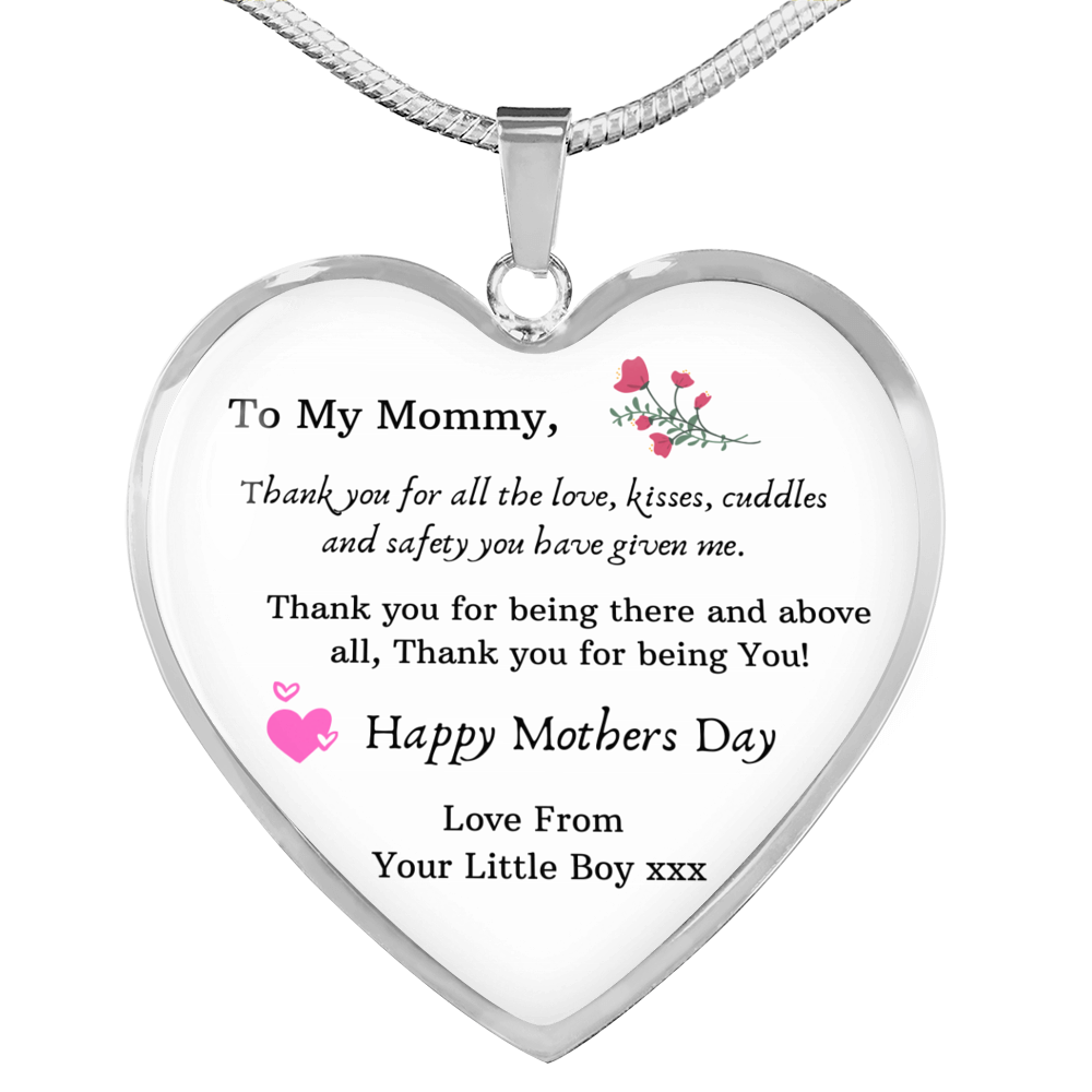 Mother Necklace Silver Plated heart Pendant great gift for mum mummy mom