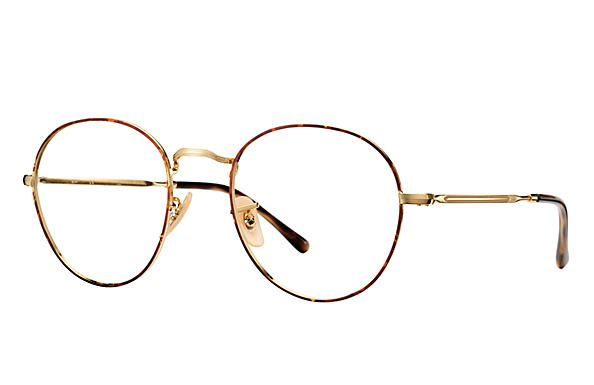 5104d68e6b Ray-Ban  RB3582V  tortoiseshell rim metal round optical glasses (€125) ❤  liked on Polyvore featuring accessories