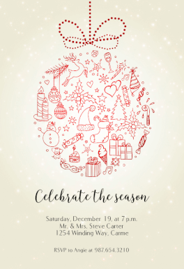 Free Xmas Invitations Best Seasonal Symbols  Free Christmas Invitation Template  Greetings .
