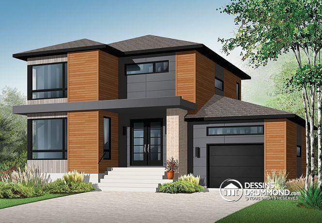 plan maison moderne familiale