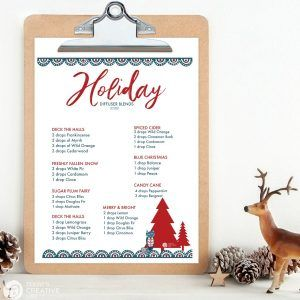 Essential Oil HOLIDAY Diffuser Blends #mosquitoplants