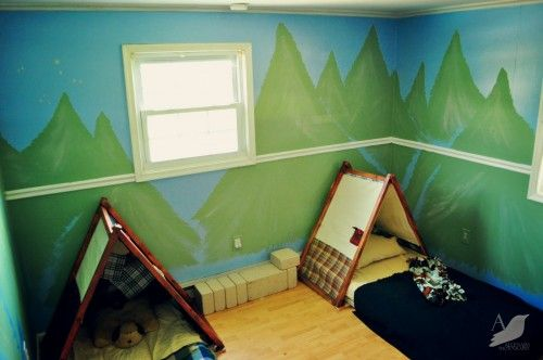 Create your own indoor camping room! So cute.