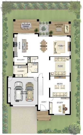 Coral Homes Bahama Series Features Narrow House Plans Floor Plans House Plans