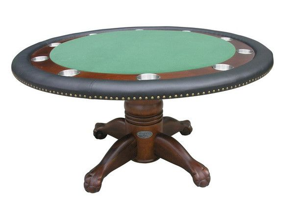 The Berner Billards Dark Walnut Round Poker Table Is One Of Our Finest Premium 10 Player Poker Table Made In Round Poker Table Poker Table Antique Poker Table